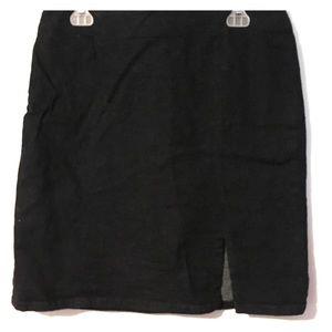 Gap dark navy denim stretch skirt
